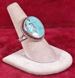 Southwest Style Turquoise Ring, Sz. 7 3/4