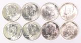 8 - 1964-P Kennedy Silver Half Dollars