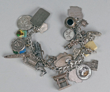 Sterling Silver Charm Bracelet w/ Charms
