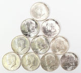 10 - 1964-P Kennedy Silver Half Dollars