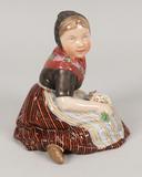 Royal Copenhagen #12416, Faroe Island Girl Figurine