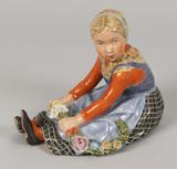 Royal Copenhagen Denmark, #12421, Jylland Girl Figurine