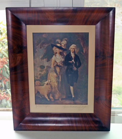 "Vintage Gainsborough Print ""Squire Hallet & Wife"""