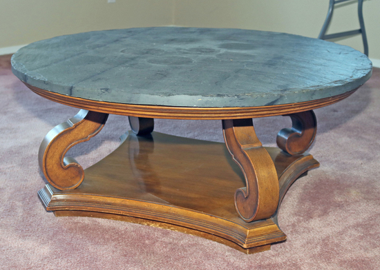 Coffee Table w/ Slate Type Top