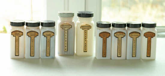 Old Griffith's Spice Jars
