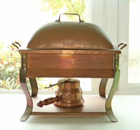 Vintage Bazar Francais NY 666 Copper  Food Warmer