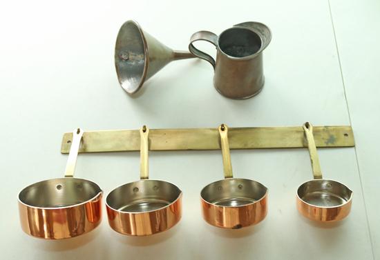 Copper Clad Measuring Cups, Funnel & More