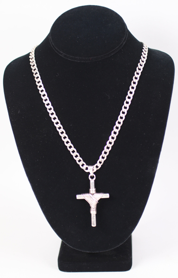 .925 Necklace with .925 Mexico Cross Pendant