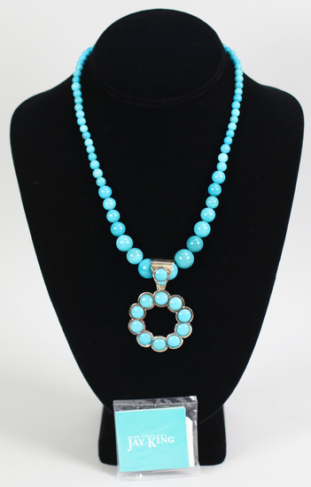 Jay King .925 DTR Turquoise Necklace & Pendant