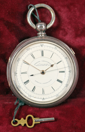 """""""Improved Chronograph"""" Pocket Watch, Sterling Cased - England, Ca. 1880"""