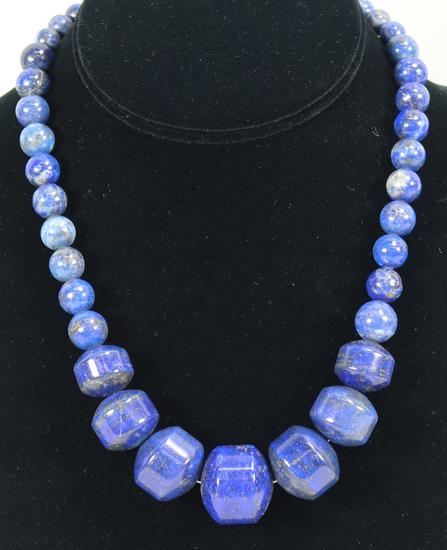 Desert Rose Trading Lapis Lazuli Graduated Necklace w/.925 Hook & Eye  Clasp