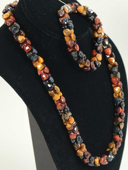 Jay King DRT Multi Colored Gemstone Necklace & Matching Bracelet