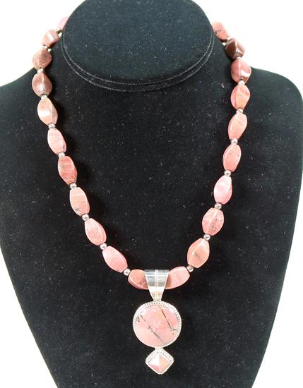 Jay King DRT Rhodonite Necklace & Pendant