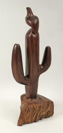 Ironwood Saguaro Cactus with Eagle