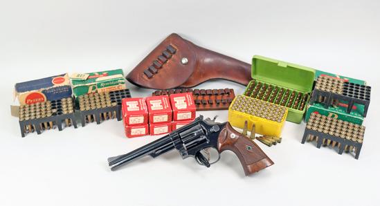"S&W Model 53 "".22 Rem Jet"" Revolver w/ Ammo & Holster, Ca. 1961"