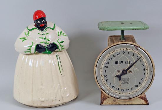 McCoy Cookie Jar & Vintage Scale