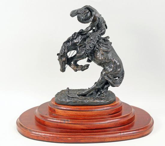 "Frederic Remington ""Rattlesnake"" Bronze"