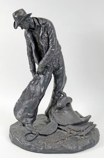 "Michael Garman Sculpture ""Taking the Rough Off"" , Ca. 1972"