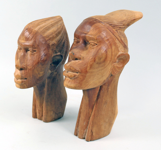 Carved African Busts