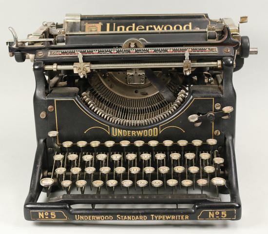Underwood Standard No. 5 Typewriter, Ca. 1920's