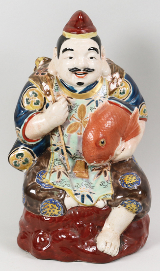 Chinese Porcelain Fisherman Holding Fish
