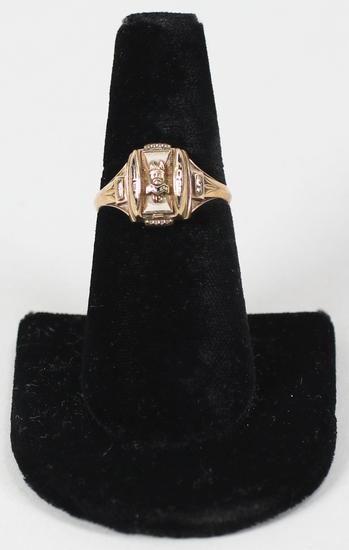 10K Gold 1966 Salem, Oregon High School Class Ring, Sz. 8.5 - 4 Grams