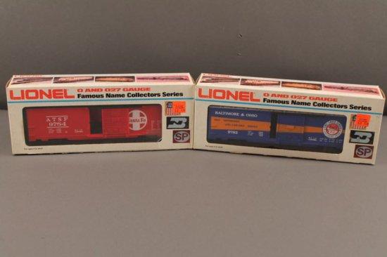 6-9783 LIONEL BALTIMORE & OHIO TIME SAVER BOX CAR, 1977-78; 6-9784 LIONEL S