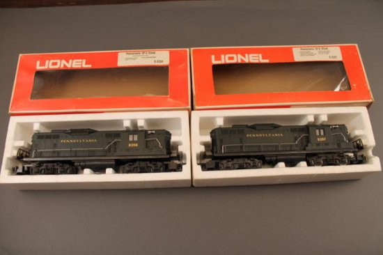 6-8357/8358 LIONEL PENNSYLVANIA GP-9 DIESEL (BLACK), 1973-75, & LIONEL PENN