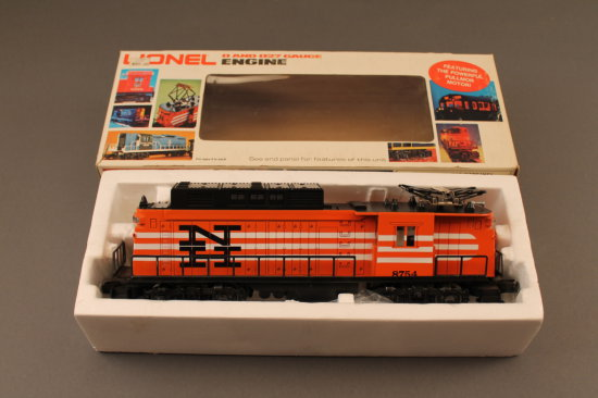 6-8754 LIONEL NEW HAVEN RECTIFIER ELECTRIC LOCOMOTIVE, 1977-78, NEW IN BOX