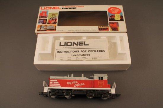 6-8057 LIONEL BURLINGTON SW-1 SWITCHER, 1980, NEW IN BOX