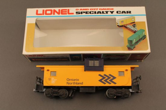 6-6901 LIONEL ONTARIO NORTHLAND EXTENDED VISION CABOOSE, 1982, NEW IN BOX