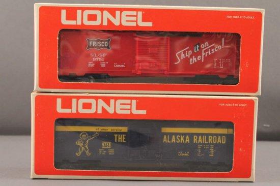 6-9751 LIONEL FRISCO BOX CAR, 1975-76, NEW IN BOX; 6-9758 LIONEL SERVICE ST