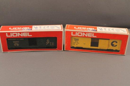 6-9740 LIONEL CHESSIE SYSTEM BOX CAR, 1974-75, 6-9742 LIONEL MINNEAPOLIS &