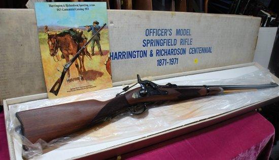 Harrington & Richardson 1871-1971 Officers Model .45-70 Black Powder Cartridge  Springfield Rifle