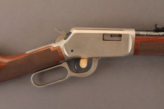 WINCHESTER MODEL 9422XTR LEVER ACTION .22CAL RIFLE, BOY SCOUTS OF AMERICA COMMEMORATIVE,