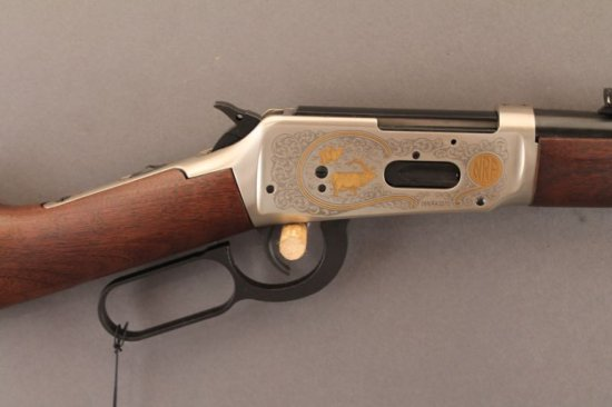 WINCHESTER MODEL 94AE LEVER ACTION RIFLE IN .44 REM MAG., TRAILS END NRA COMMEMORATIVE,
