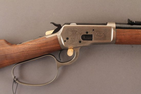 WINCHESTER MODEL 1892 LEVER ACTION .44-40CAL RIFLE, JOHN WAYNE 100TH ANNIVERSARY EDITION,