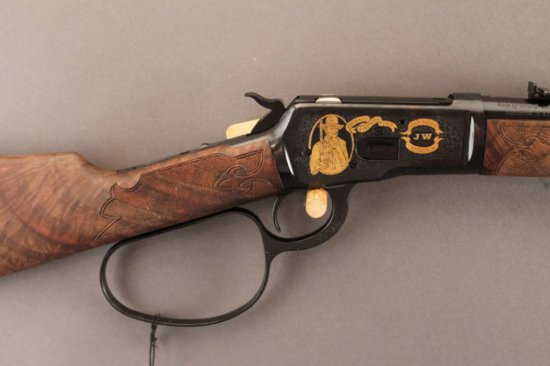 WINCHESTER MODEL 1892 LEVER ACTION .44-40 CAL RIFLE, JOHN WAYNE 100TH ANNIVERSARY EDITION,