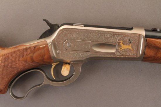 BROWNING MODEL 71 LEVER ACTION RIFLE IN .348WIN, HIGH GRADE WITH ENGRAVED RECEIVER,