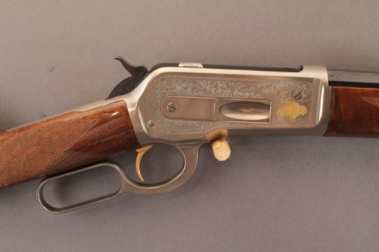 BROWNING MODEL 1886 LEVER ACTION RIFLE IN .45-70,