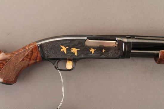 BROWNING MODEL 42 PUMP ACTION .410 SHOTGUN, HIGH GRADE, 3 INCH CHAMBER,