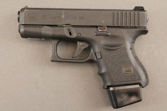 handgun GLOCK MODEL 27, 40CAL SEMI-AUTO PISTOL,