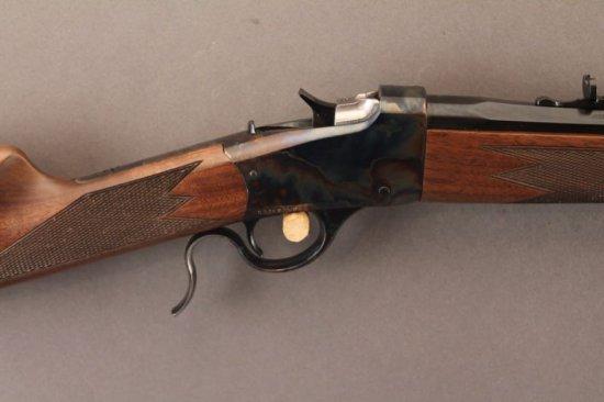 WINCHESTER MODEL 1885 LOW WALL, 17 MACH 2 SINGLE SHOT RIFLE,