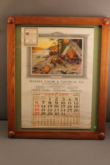 """PHILLIP GOODWIN """"WAITING FOR SOMETHING TO TURN UP - 1929 CALENDAR"""