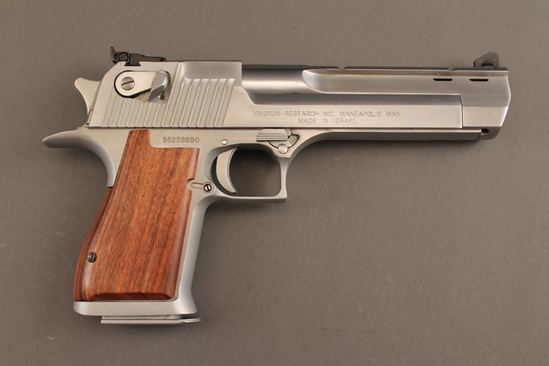 handgun MAGNUM RESEARCH DESERT EAGLE 50CAL SEMI-AUTO PISTOL