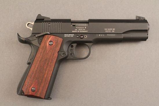 handgun SIG SAUER MODEL 1911-22, 22LR SEMI-AUTO PISTOL