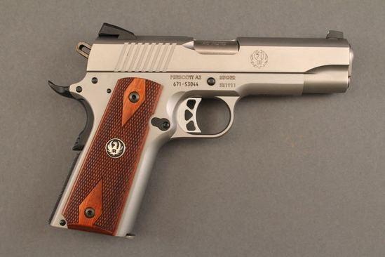 handgun RUGER MODEL SR1911, 45 ACP SEMI-AUTO PISTOL