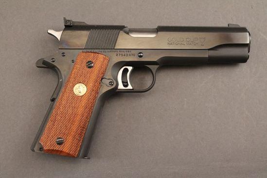 handgun COLT GOLD CUP  NATIONAL MATCH 70 SERIES, 45 ACP CAL, SEMI-AUTO PISTOL