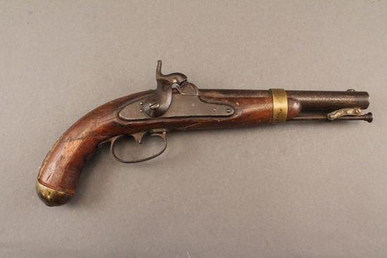 antique MASTON PERCUSSION, 54CAL, SINGLE SHOT PISTOL