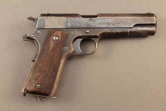 handgun COLT MODEL 1911, .45 ACP SEMI-AUTO PISTOL, S#1445